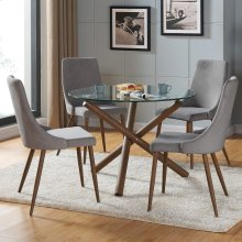 Rocca/Cora 5pc Dining Set, Grey
