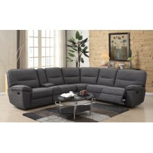 Emerald Home Alberta Armless Recliner Charcoal U8040-25-05