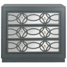 Catalina 3 Drawer Chest - Steel Teal / Nickel / Mirror Product Image