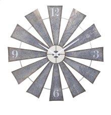 Ward Metal Windmill Wall Clock