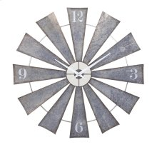 Ward Metal Windmill Wall Clock
