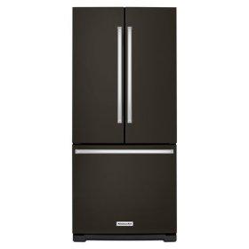 KitchenAid® 20 cu. Ft. 30-Inch Width Standard Depth French Door Refrigerator with Interior Dispense - Black Stainless