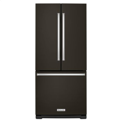 KitchenAid® 20 cu. Ft. 30-Inch Width Standard Depth French Door Refrigerator with Interior Dispense - Black Stainless Product Image