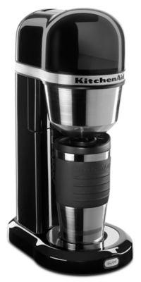 Personal Coffee Maker with 18 oz Thermal Mug - Onyx Black
