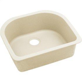 """Elkay Quartz Luxe 25"""" x 22"""" x 8-1/2"""", Single Bowl Undermount Sink, Parchment"""