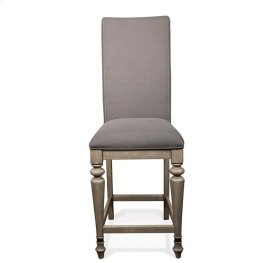 Corinne Upholstered Counter Height Stool Sun-drenched Acacia finish