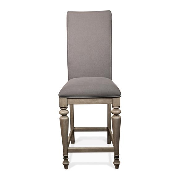 Corinne Upholstered Counter Height Stool Sun Drenched Acacia Finish