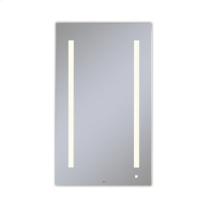 """Aio 23-1/8"""" X 39-1/4"""" X 1-1/2"""" Lighted Mirror With Lum Lighting At 2700 Kelvin Temperature (warm Light), Dimmable, Usb Charging Ports and Om Audio Product Image"""