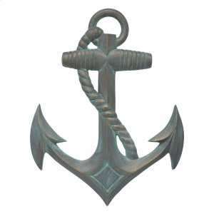 Anchor Wall Decor - Bronze Verdigris Product Image