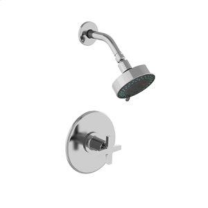 Matte White Balanced Pressure Shower Trim Set