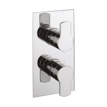 Wisp 1500 Thermo Valve Trim (2 Outlets) - Polished Nickel