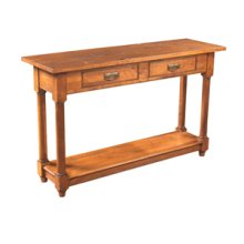 Console table with turned leg and shelf