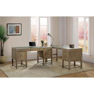 RiversideLiam - Writing Desk - Gray Acacia/galvanized Metal Finish