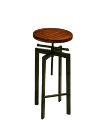 Adjustable Stool - Java/Black Metal Finish