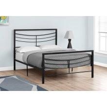 BED - FULL SIZE / BLACK METAL FRAME ONLY