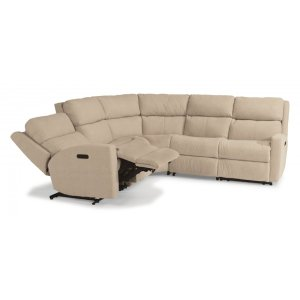 FLEXSTEELCatalina Leather Power Reclining Sectional with Power Headrests