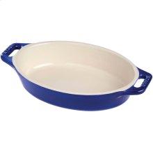 "Staub Ceramics 6.5"" Oval Baking Dish, Dark Blue"