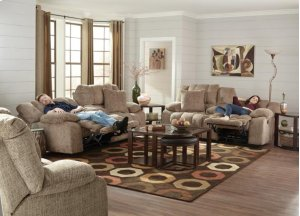 Lay Flat Reclining Sofa w/ Extended Ottomon
