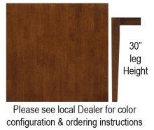 """36"""" x 36"""" Square Table w/ 30"""" Shaker Legs Espresso & Almond"""
