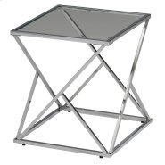 Geo Accent Table in Chrome Product Image