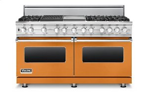 "60"" Sealed Burner Dual Fuel Range, Natural Gas"