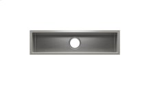"J7® 003968 - undermount stainless steel Bar sink , 30"" × 7"" × 6"""