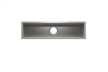 """J7® 003968 - undermount stainless steel Bar sink , 30"""" × 7"""" × 6"""""""