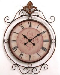 Metal Clock w/ décor 21.75x2.25x30.5 Product Image