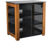 AV Component Stand Smoked tempered-glass doors - fits AV components and TVs up to 37""