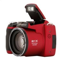 Polaroid 16-Megapixel Digital Still Camera iS2132 with 21x Enhanced Optical Zoom, Red
