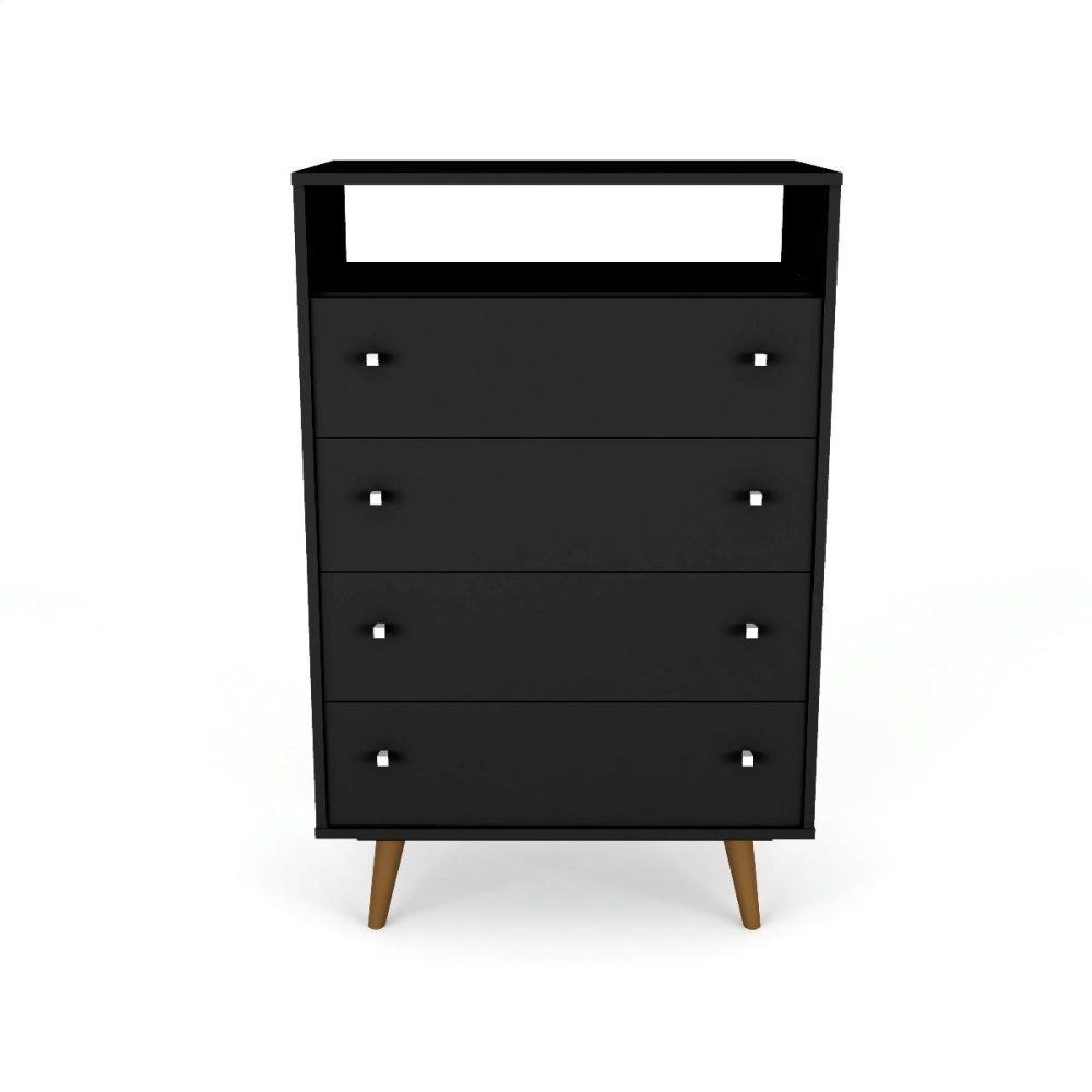 Liberty 4-Drawer Dresser Chest in Black