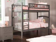 Richland Bunk Bed Twin over Twin in Atlantic Grey