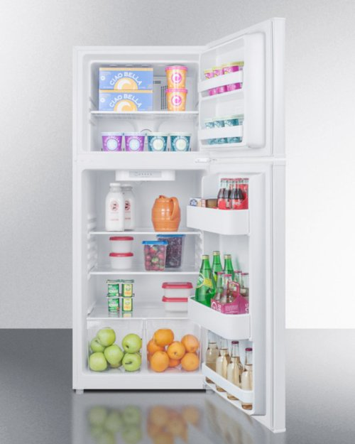 """Energy Star Qualified 24"""" Wide 11.5 CU.FT. Frost-free Refrigerator-freezer In White Finish"""