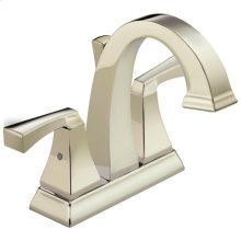 Polished Nickel Two Handle Centerset Lavatory Faucet