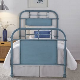 Full Metal Bed - Blue
