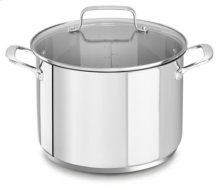 Stainless Steel 8.0 Quart Stockpot with Lid - Polished Stainless Steel
