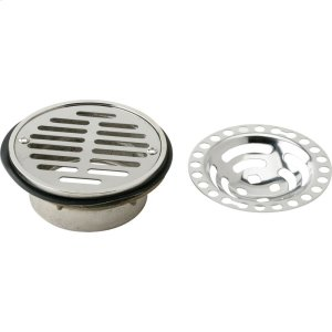 "Elkay Drain Fitting 5-1/2"" Stainless Steel Dome / Flat Grid Strainer Product Image"