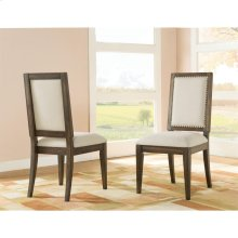 Modern Gatherings - Upholstered Side Chair - Brushed Acacia Finish
