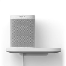 White- Create a designated place for your Sonos One or Play:1 with this space-saving shelf.