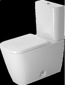 White Happy D.2 Two-piece Toilet Duravit Rimless®