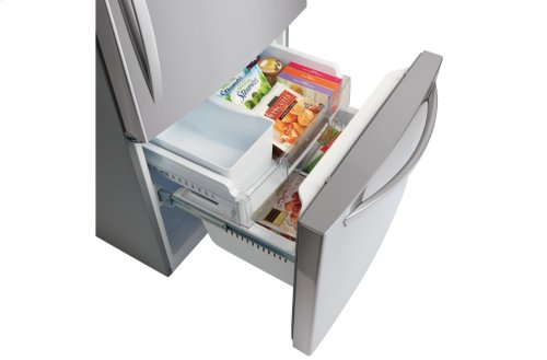 "24 cu. ft. Large Capacity 33"" Wide Bottom Freezer Refrigerator"