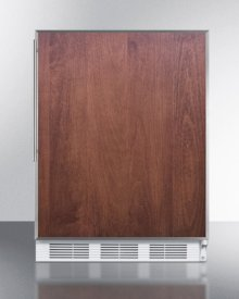 Built-in Undercounter Refrigerator-freezer for General Purpose Use, With Dual Evaporator Cooling, Ss Door Frame for Panel Inserts, and White Cabinet