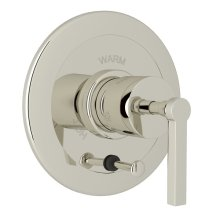 Polished Nickel Avanti Integrated Volume Control Pressure Balance Trim With Diverter with Metal Lever