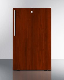 """ADA Compliant 20"""" Wide Built-in Refrigerator-freezer With A Lock, White Exterior, and Integrated Door Frame for Overlay Panels"""