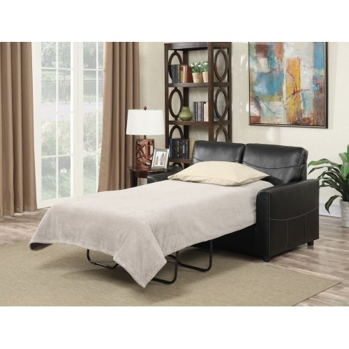 Emerald Home Slumber Twin Sleeper W/gel Foam Mattress Black U3215-33-16
