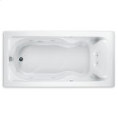 Cadet 72 Inch by 42 Inch EverClean Whirlpool Bathtub  American Standard - White