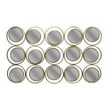 Metal Circle Sculpture Mirror,gold