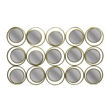 Metal Circle Sculpture Mirror,gold