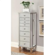 Contemporary Antique Silver Jewelry Armoire Product Image
