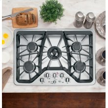 "Floor Model - GE Cafe™ Series 30"" Built-In Gas Cooktop"